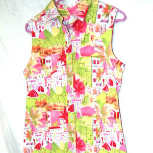 Talbots Women's Collar Sheath Dress US 8 Pink